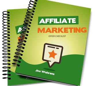 affiliate marketing offer Checklist